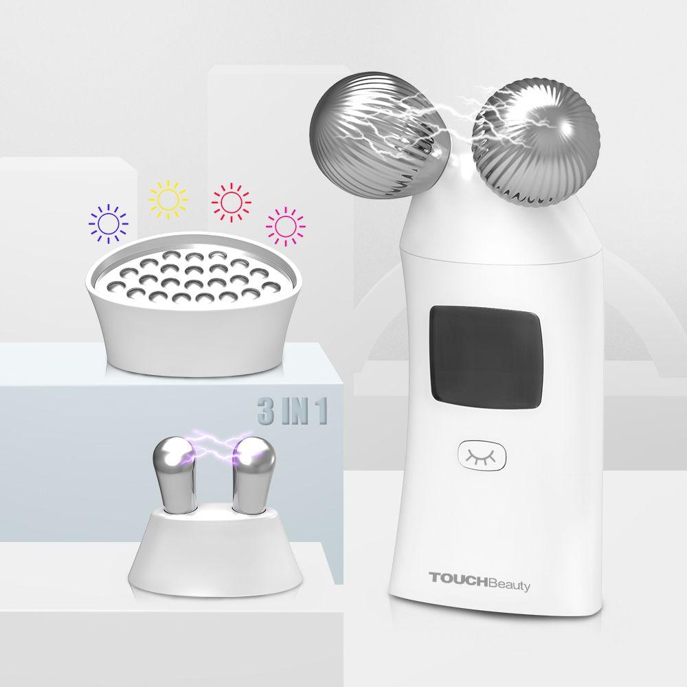 TOUCHBeauty 3-in-1 mikrostrom facelift Haut Anziehen Verjüngung Spa für entfernen Akne, erleichtern sommersprossen gesichts schönheit gerät