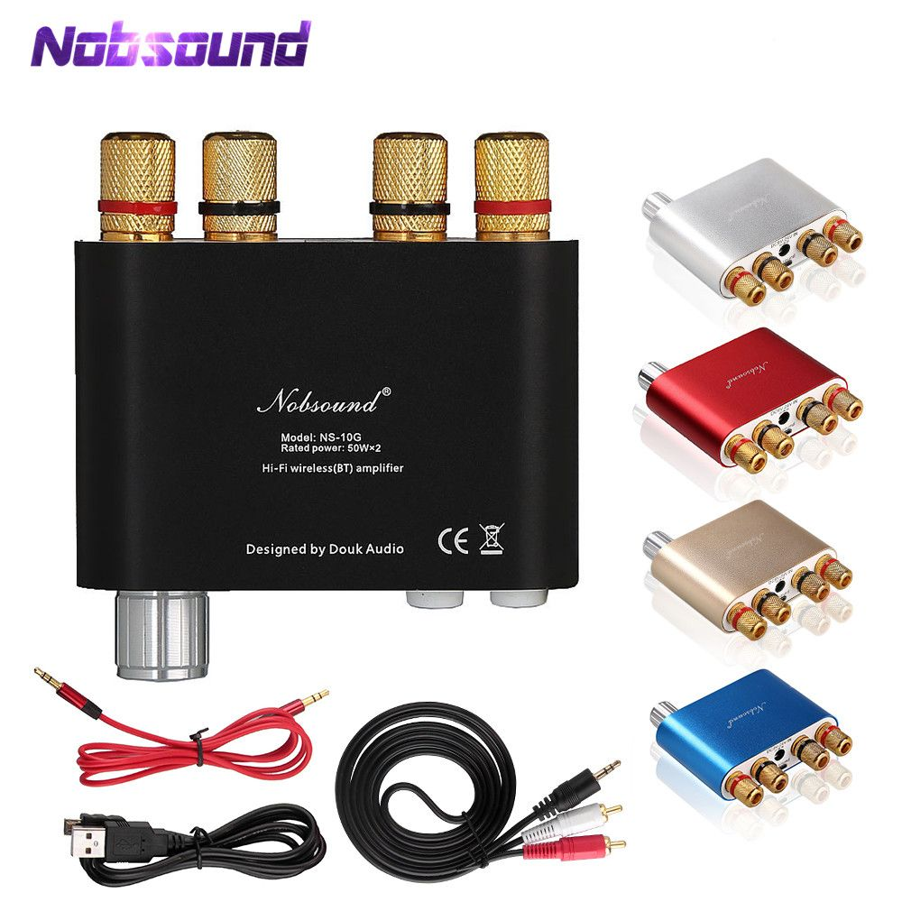 2018 Lastest Nobsound NS-10G TPA3116 Bluetooth 4.0 Mini Digital Amplifier Stereo HiFi Power Amp 50W*2 FREE SHIPPING