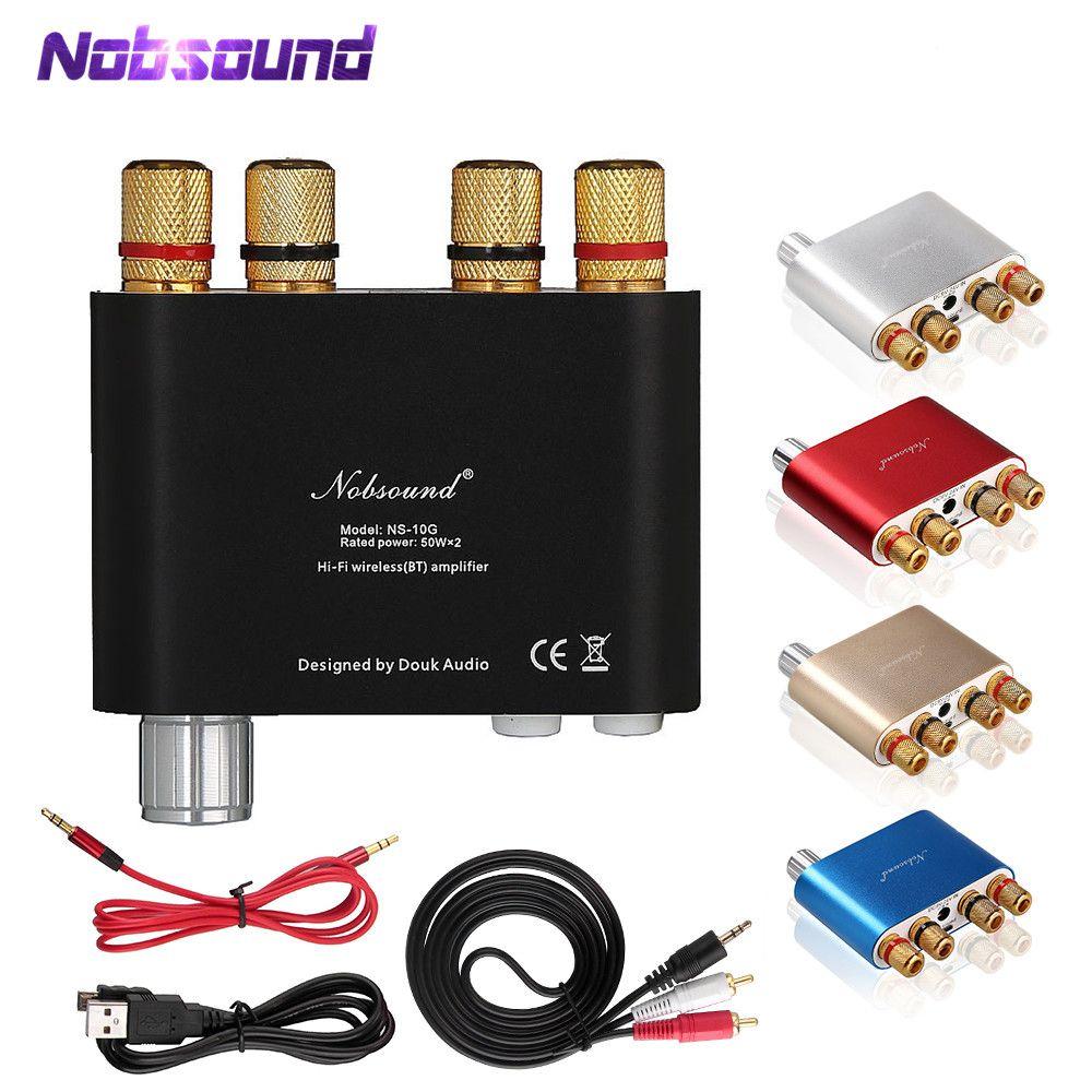 2018 dernière NS-10G Nobsound TPA3116 Bluetooth 4.0 Mini amplificateur numérique stéréo HiFi amplificateur de puissance 50W * 2 livraison gratuite