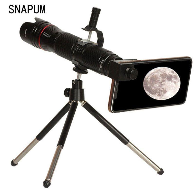 4K HD 16-35X télescope caméra Zoom lentille étanche 3-Section réglable téléphone portable téléobjectifs pour iPhone Smartphone lentilles