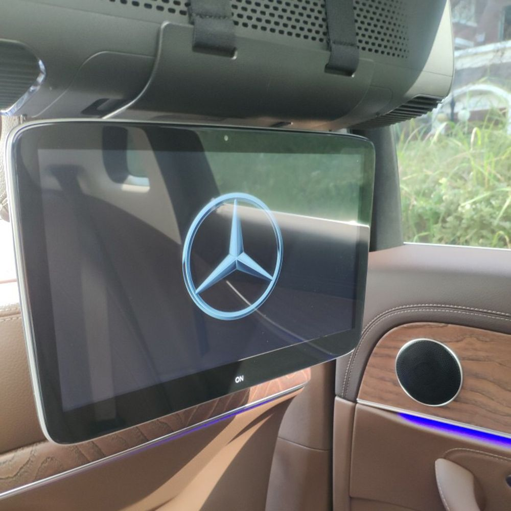 Plug and Play Car Android 7.1 OS System Headrest Monitors For Mercedes A B C E S V ML GL CLA CLS GLK SLK Class 11.6 inch Screens
