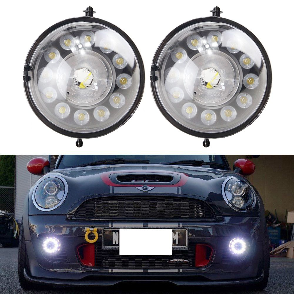 12V 12W Waterproof Drl Led Daytime Running Light for Mini COOPER R55 R56 R57 R58 R59 R60 R61 12V Car Fog Drl Parking Daylight