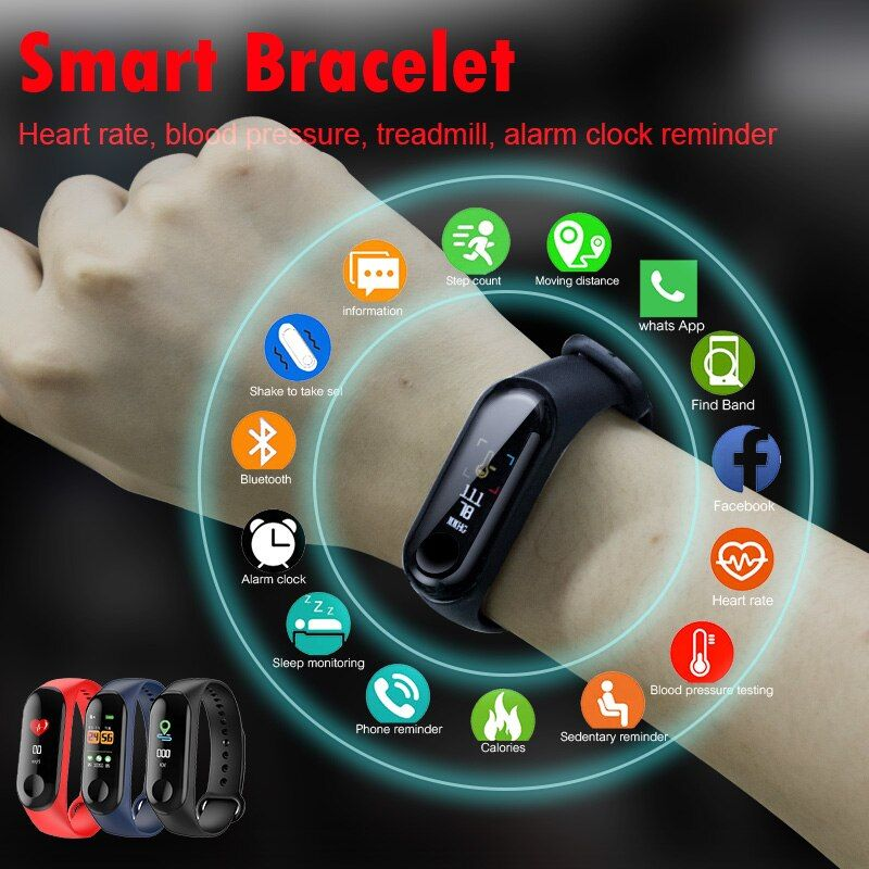 M3 Smart Band Wristband Health Heart rate/Blood/Pressure/Heart Rate Monitor/Pedometer Sports Bracelet for Men Women Smart Band