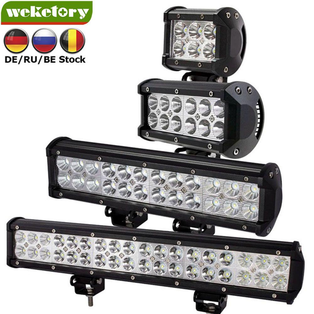 Weketory 4 7 12 17 pouce 18 w 36 w 72 w 108 w LED Travail Lumière LED Bar Lumière pour Moto Tracteur Bateau Off Road 4WD 4x4 Camion SUV ATV