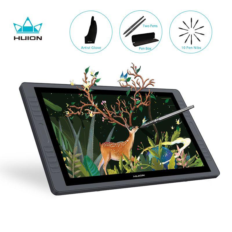 HUION KAMVAS GT-221Pro 21,5 zoll Stift Display Monitor Grafiken Zeichnung Tablet Monitor 8192 Ebenen 20 Verknüpfung Tasten 2 Touch Bars