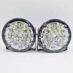 Супер яркий 18 светодиодный свет автомобиля Белый DRL светодиодный днем Бег свет светодиодный фонарь фара 2 шт. Тюнинг автомобилей