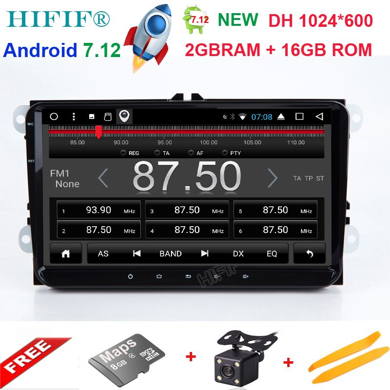 9''Android7. 1 Auto NODVD GPS Video Player Für VW/Volkswagen/POLO/PASSAT/Golf/Skoda/Octavia /sitz/Leon Canbus Wifi Navi BT Radio