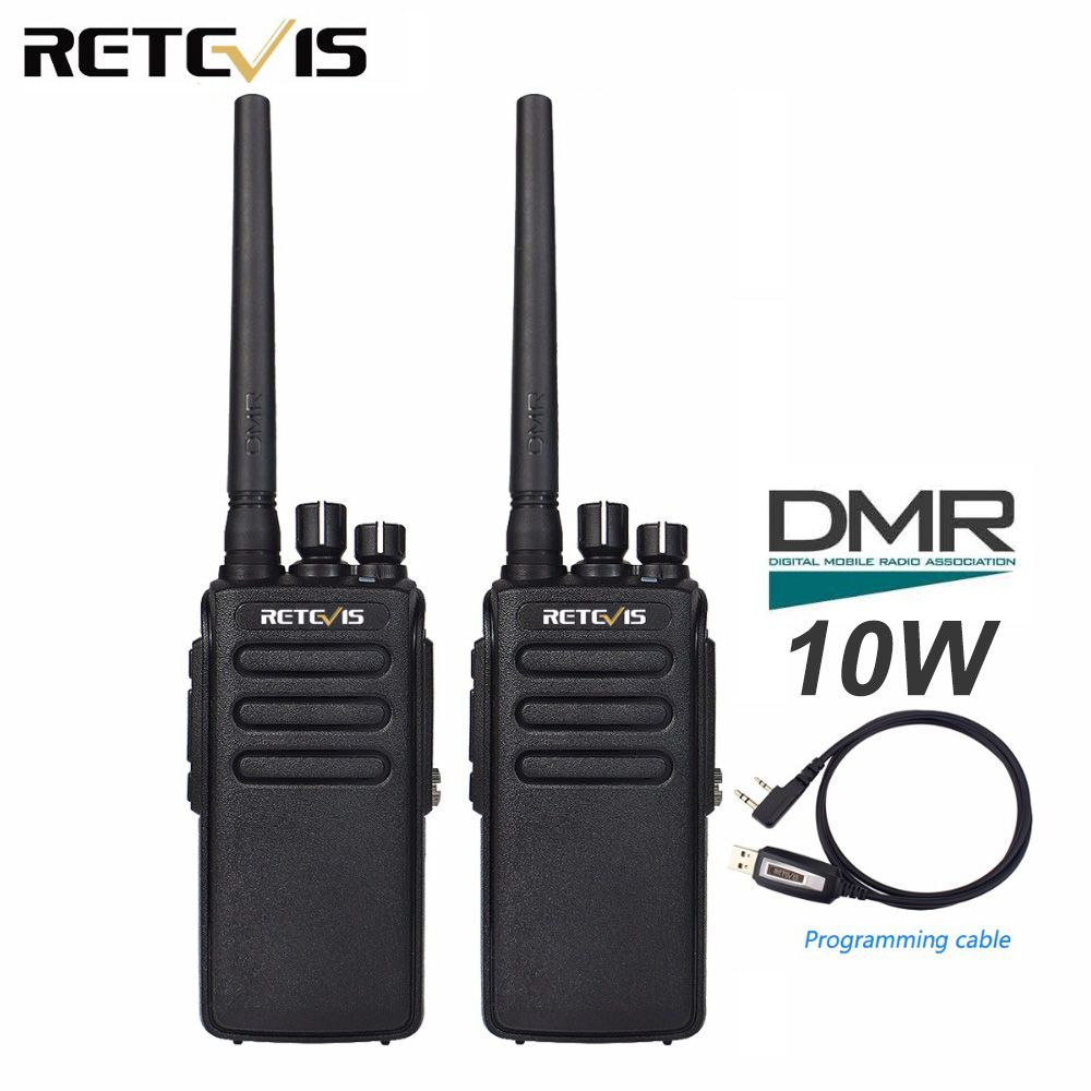 2pcs Retevis RT81 10W DMR Digital Radio IP67 Waterproof Walkie Talkie UHF 400-470MHz VOX Encrypted Two Way Radio Long Range