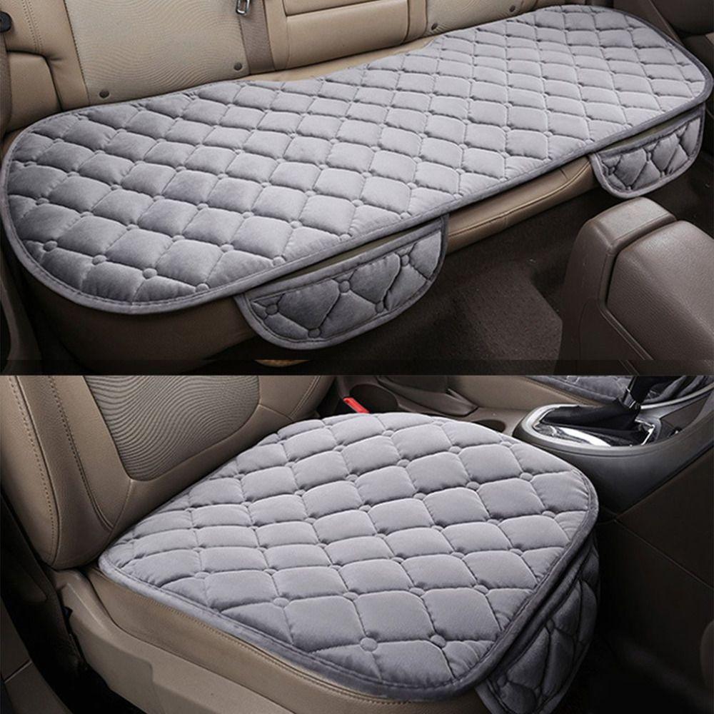 3PCS/Set Universal Comfortable Square Soft Cotton Car Seat Cushion Front Back Seat Covers Auto Chair Pad Mat Car Supplies