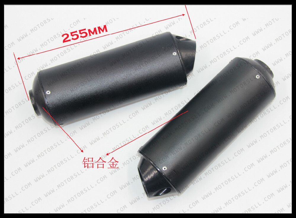 38MM 28mm Alloy Exhaust Muffler With Clamp For 50cc 110CC 125 140 150 160 cc Chinese Dirt PitBike