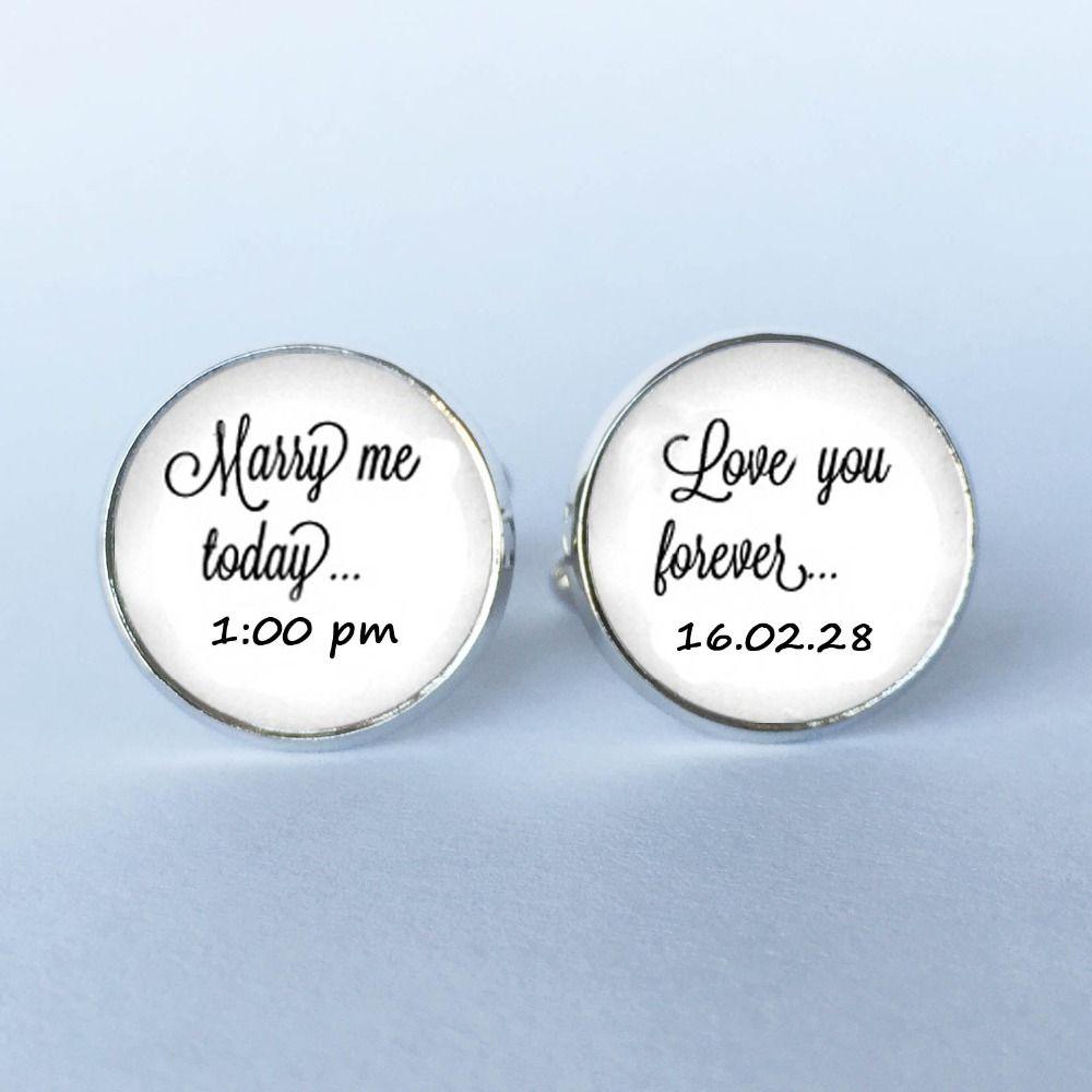 1 Par Casarse Conmigo Hoy Fecha de Encargo de La Boda Del Novio Gemelos Gemelos-Gemelos de la boda para el Novio Me Ama Para Siempre gemelos