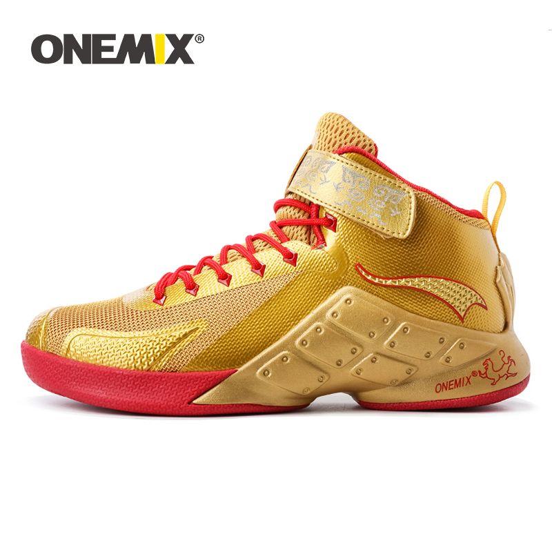 Onemix Basketball Schuhe für Männer Männlich Knöchel Stiefel Anti-slip outdoor Sport Turnschuhe Große Größe EU 39-46 für walking trekking schuhe