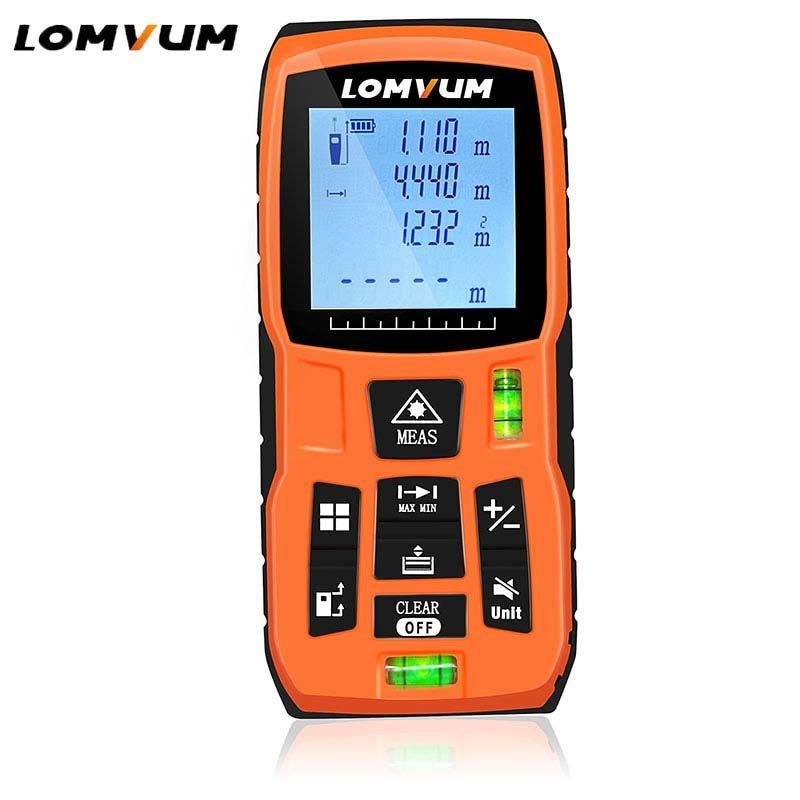 LOMVUM LV-5800 Handheld Laser <font><b>Distance</b></font> Meter level bubbles laser rangefinder