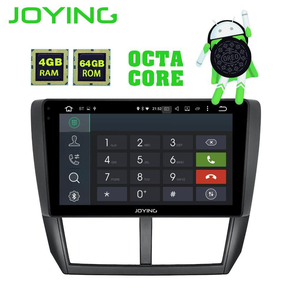 JOYING HD 9 ''Bildschirm Multimedia-Player 4 gb RAM Octa core Android 8.1 Auto DVD GPS Navigator Radio für Subaru forester 2008-2012