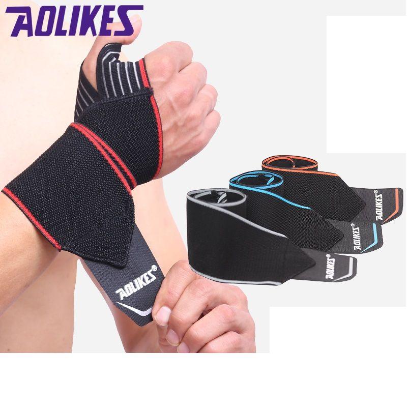 Empfehlen! 2 teile/los Einstellbare Sport Armband Handgelenk-klammer-verpackungs-verband Unterstützung Band Gym Strap Sicherheit sport handgelenk schützer