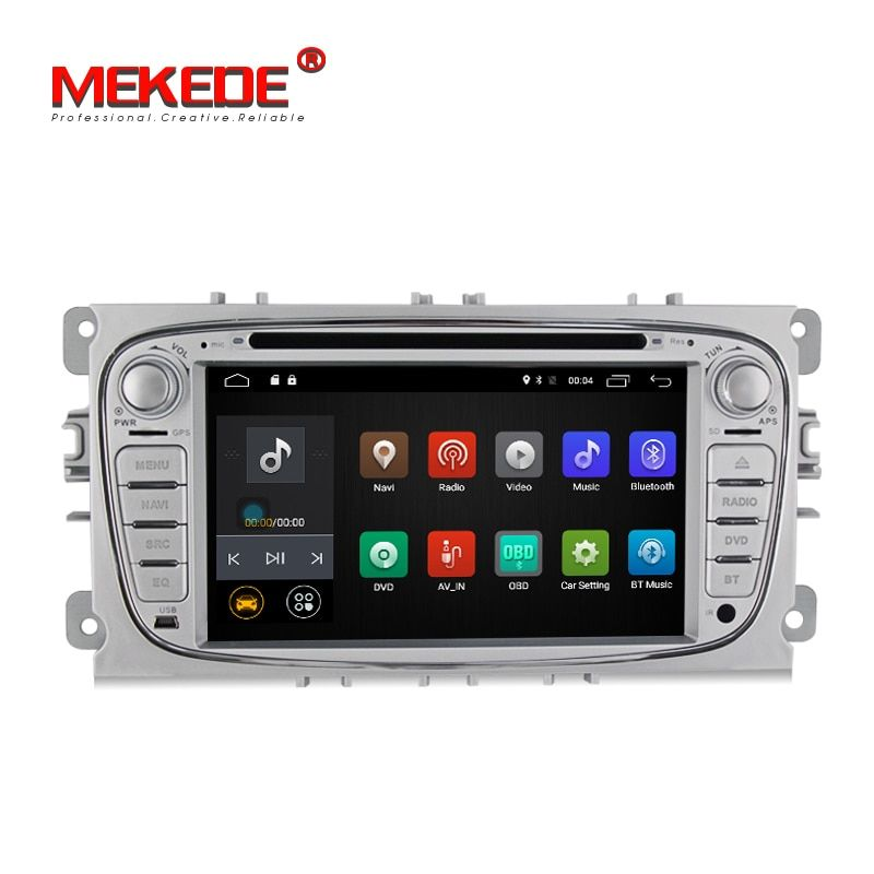 Free shipping!MEKEDE Pure android7.1 car gps dvd player for FOCUS 2 /MONDEO/S-MAX/CONNECT 2008-2011 support 4G wifi bluetooth