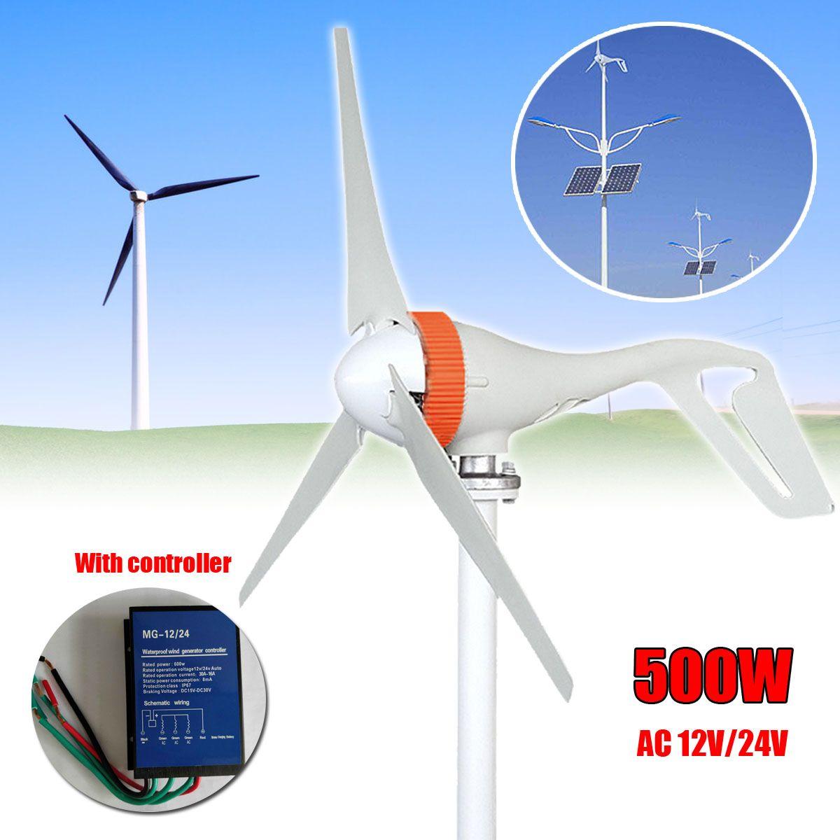AC 12 v/24 v 500 watt 3 Klingen Wind Generator Mini Windkraftanlagen Miniatur Wind Turbinen Generator Mit controller für den heimgebrauch