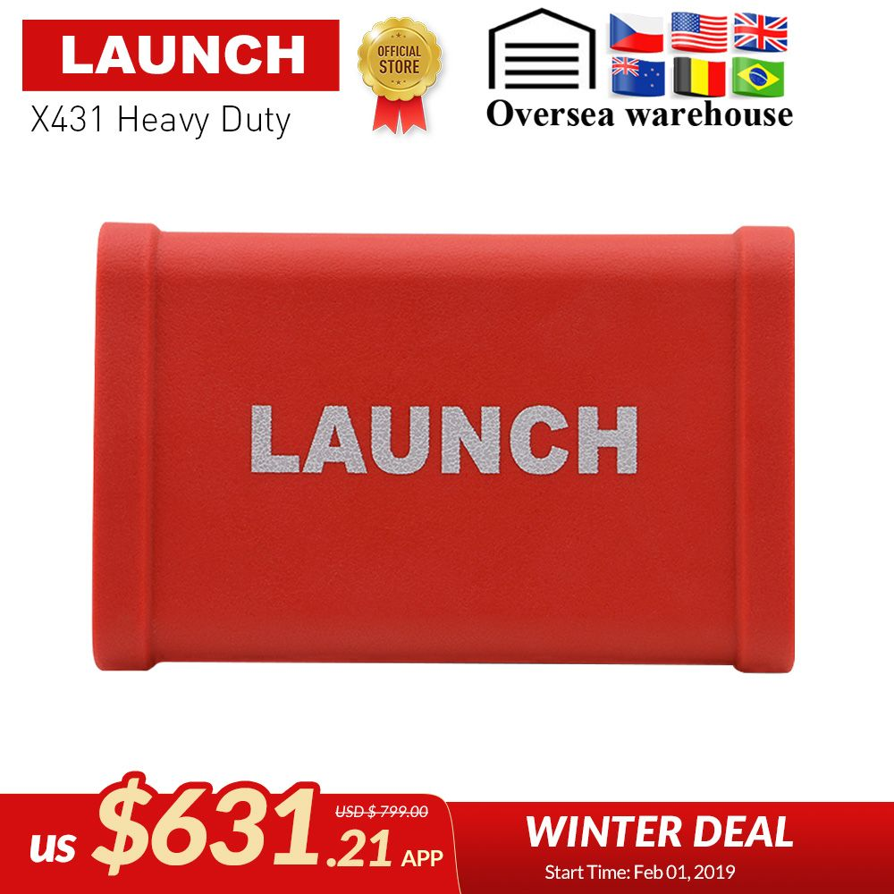 LAUNCH X431 HD Heavy Duty special for 24V truck work with 10'' inch work with  X431 V+, X-431 PRO3 X-431 PAD II DHL  free