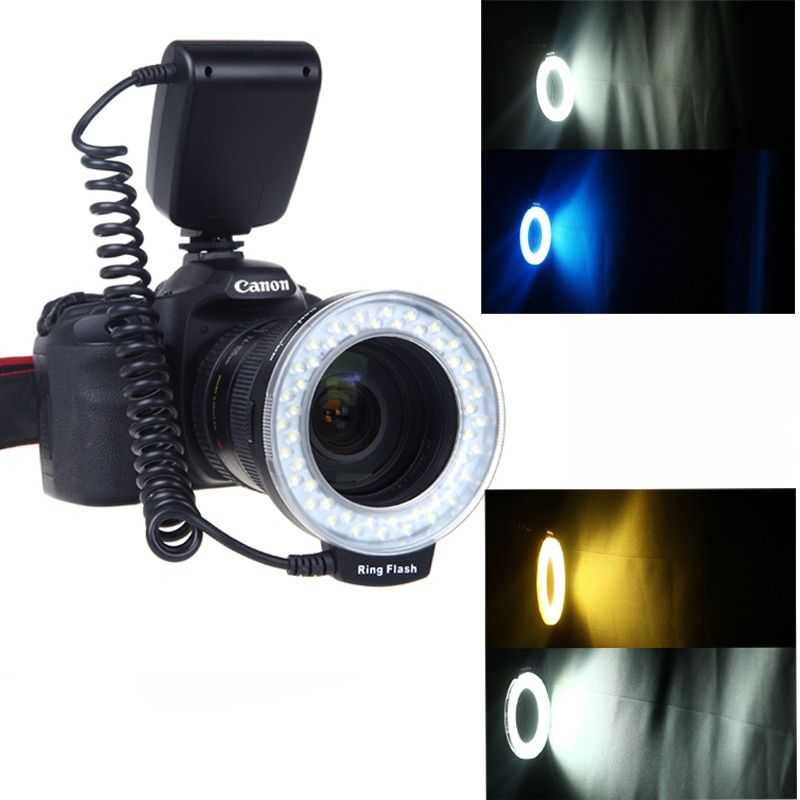 RF-550D RF 550D Macro 48 pieces LED Ring Flash Light for Canon Nikon Pentax Olympus Panasonic DSLR