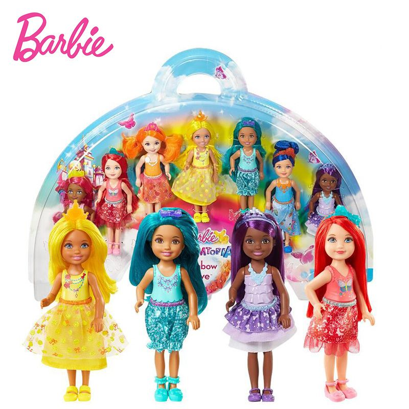 Original Barbie Doll Toy Barbie Dreamtopia Rainbow Cove 7 Doll Gift Set Barbie Collection Model Figure Toys Gift for Girls Bonec