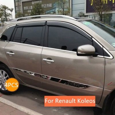 for Renault Koleos 2009 2010 2011 2012 2013 Car side door body Molding cover Trim sticker 4pcs