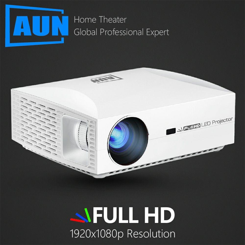 AUN projecteur Full HD résolution F30, 1920x1080. Projecteur LED pour Home cinéma. Beamer HDMI intelligent 3D 5500 Lumens, Comparable 4 K