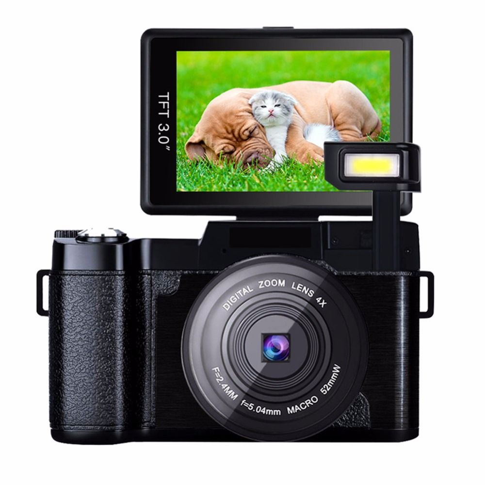 New 24MP Digital Photo Camera Video Camcorder with UV Filter Optional Wide Angle Lens fisheyes lens Photo Cameras