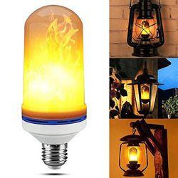 Lampu LED E27 E26 Lampu LED Efek Api Api Lampu 9 W 18 W 1 Berkedip Emulasi Api Light 1900 k-2200 K AC85-265V Api Lampu