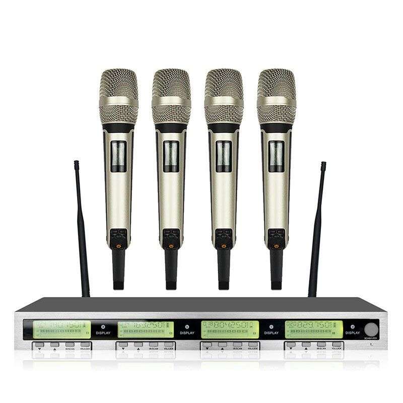 New High Quality Professional AWT400 4 channel SKM9000Handheld Wireless Microphone professional lavalier clip microphone headset