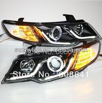 For KIA Forte Cerato LED Angel Eyes Headlight 2009- 13 year LDV2 Type