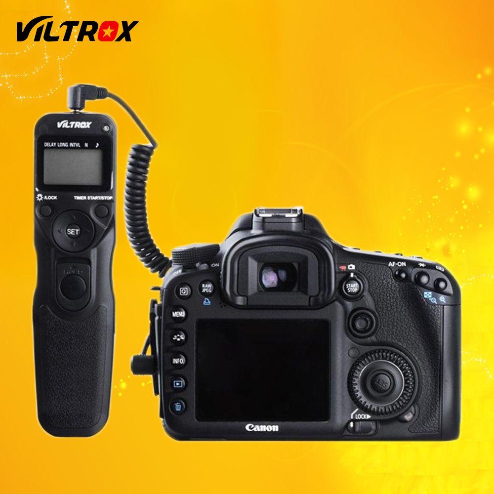 Viltrox MC-C1 LCD Timer Remote Shutter Release Control Cable Cord for Canon 1500D 1300D 760D 800D 600D 77D 80D 200D M5 M6 EOS R