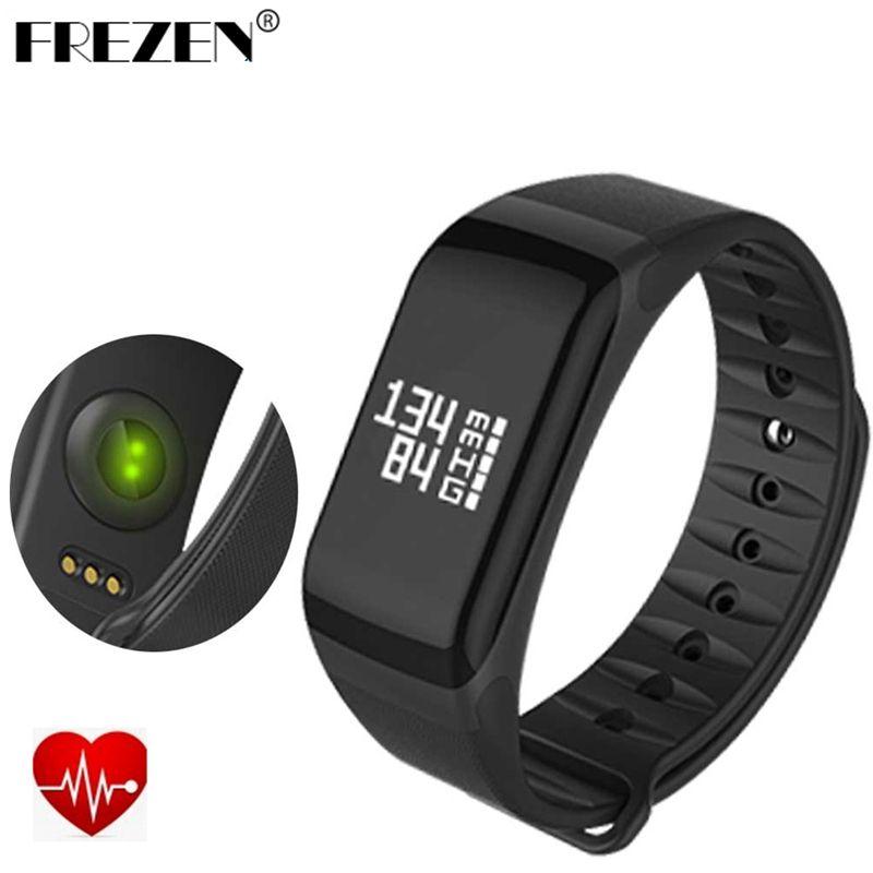 FREZEN F1 Smart Band tensiomètre à oxygène Bracelet Sport moniteur de fréquence cardiaque rappel d'appel/SMS pour téléphone iOS Android