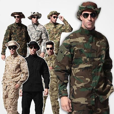 Outdoor tactical combat ACU woodland camo Uniform,military army camouflage Hunting clothes uniform paintball Wargame uniform