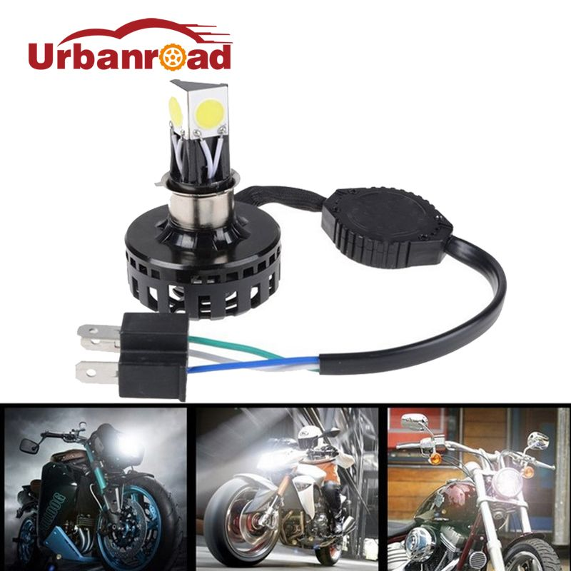 H6 H4 Led Motorcycle Headlight Hi Lo Beam 6000K 2000LM h4 Led Motorbike Headlamp High/Low Conversion Kit Bulb Moto Accessories
