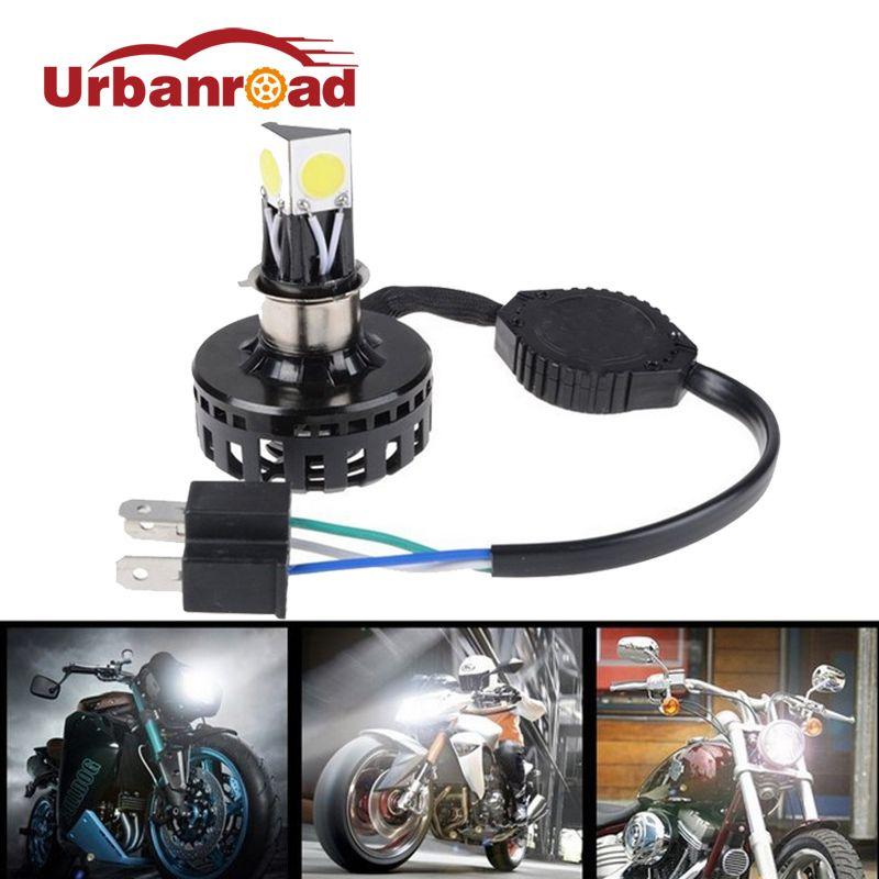 H6 H4 Led Motorcycle Headlight Hi Lo Beam 6000K 2000LM h4 Led Motorbike Headlamp High/Low Conversion Kit Bulb Moto Accessories