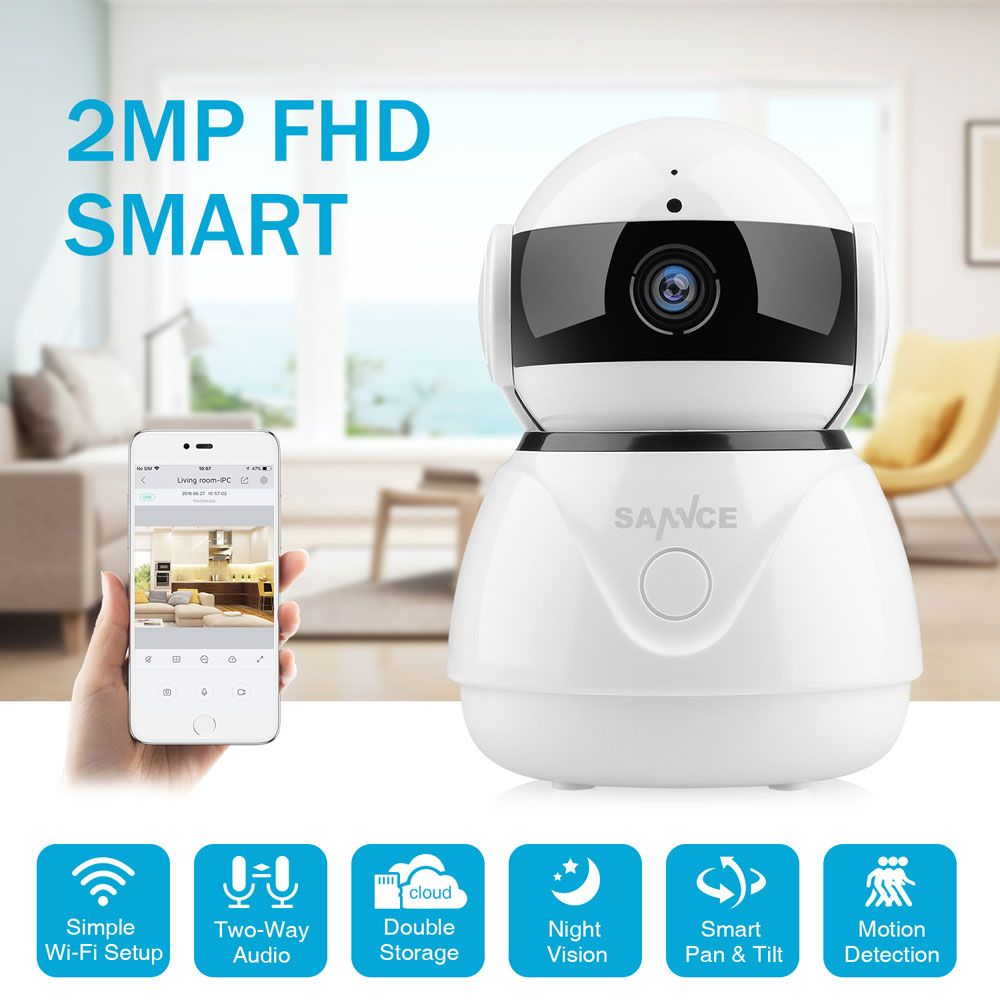 SANNCE 1080 P sans fil Wifi IP caméra Full HD sécurité à domicile bébé moniteur Mini réseau Surveillance caméra IRCut Vision nocturne CCTV