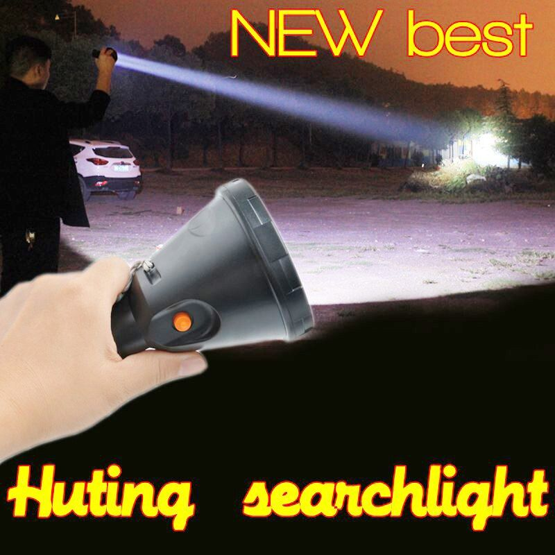 High power Led portable Hand-held hunting flashliht t6 rechargeable searchlight outdoor lighting spotlight for fishing