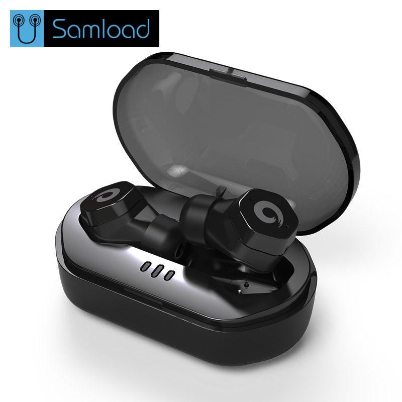 Samload Wasserdichte Bluetooth 4,2 Kopfhörer IPX7 Touch Control Drahtlose Ohrhörer F8 TWS Wireless Headset für iphone Siri Remote