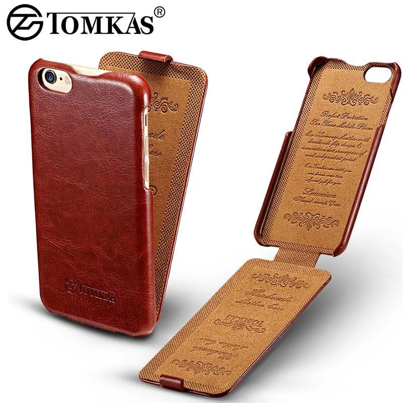 Tomkas Flip Cas Pour iPhone 6 6 S Coque De Luxe PU En Cuir téléphone de Couverture Arrière Pour l'iphone 6 S Plus Cas D'affaires Rétro Style