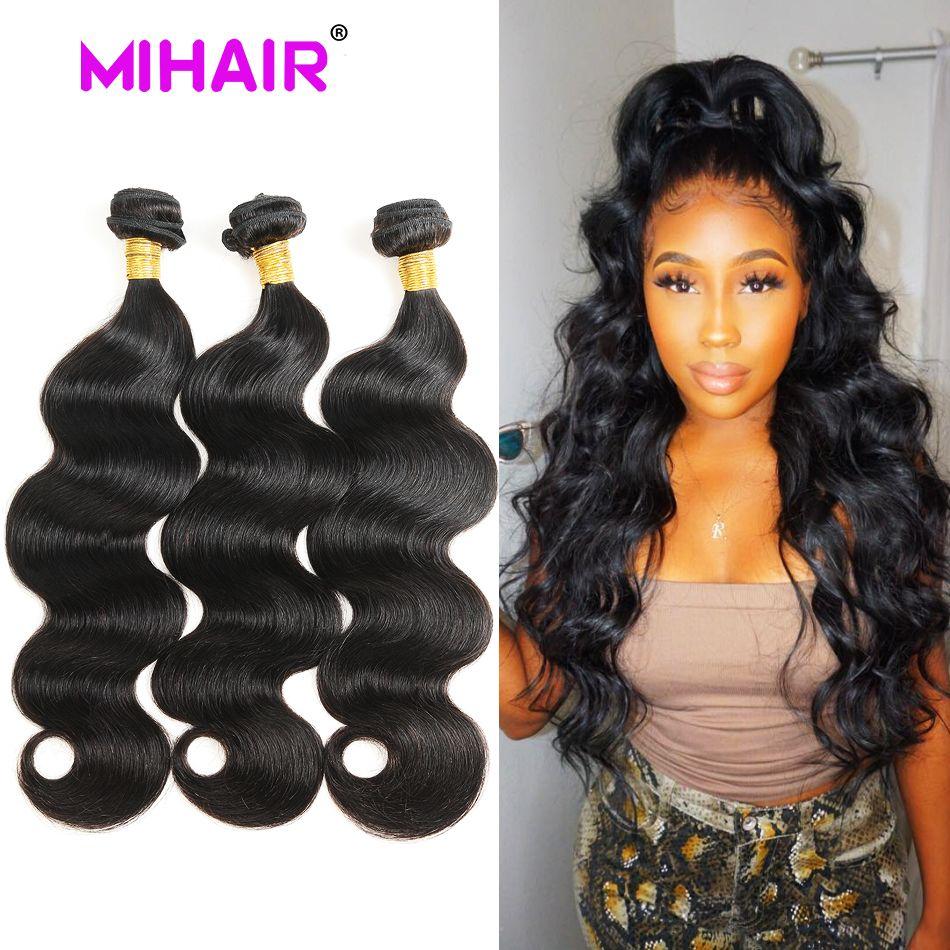 Cheveux indiens vague de corps cheveux humains paquets 1/3/4 paquets de cheveux humains armure 8-30 pouces couleur naturelle Remy Extension de cheveux pour les femmes