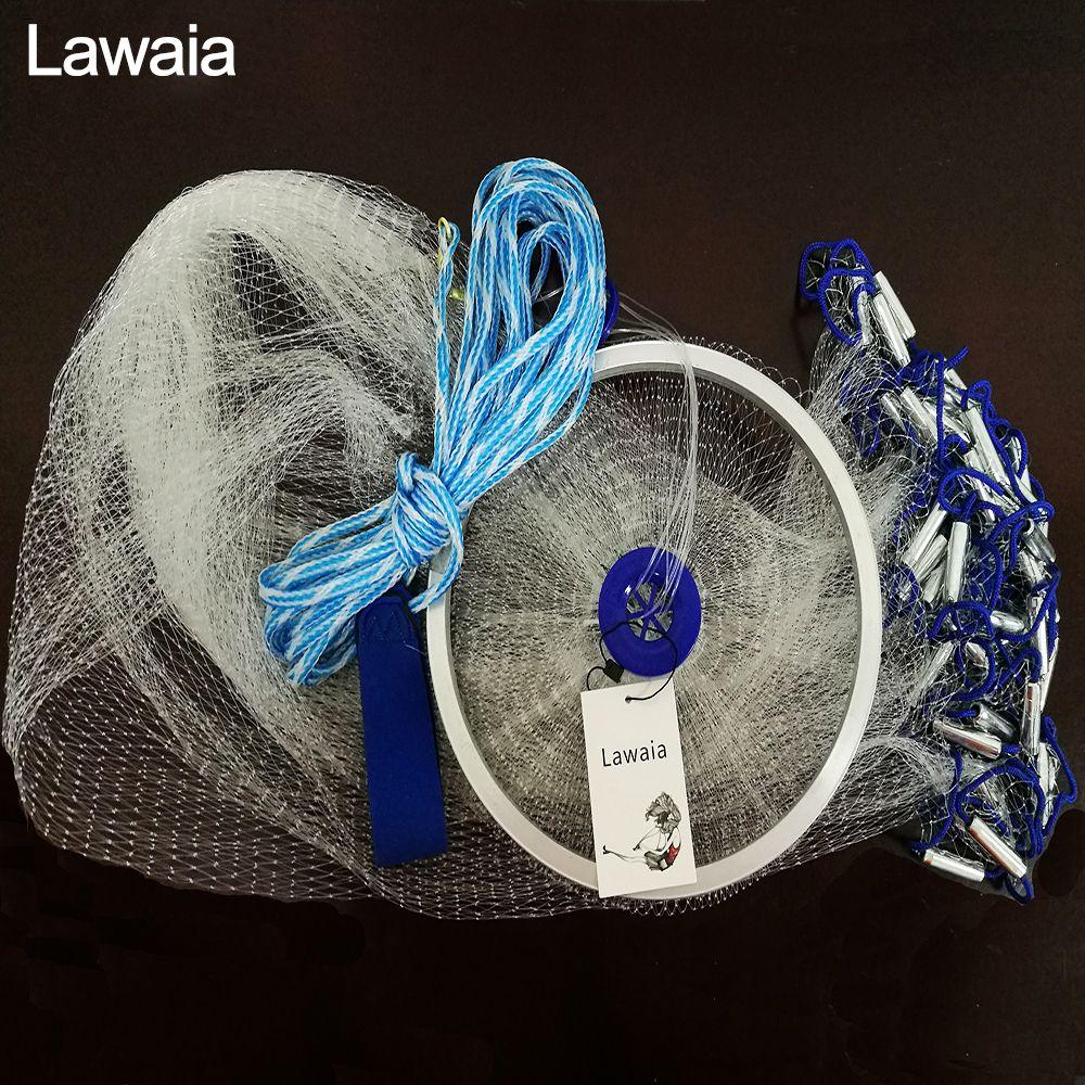 Lawaia Hand Cast Net 2.4m-5m Fishing-net Fishing Net American Sign Cast Network Folding Fishing Network Cast Net