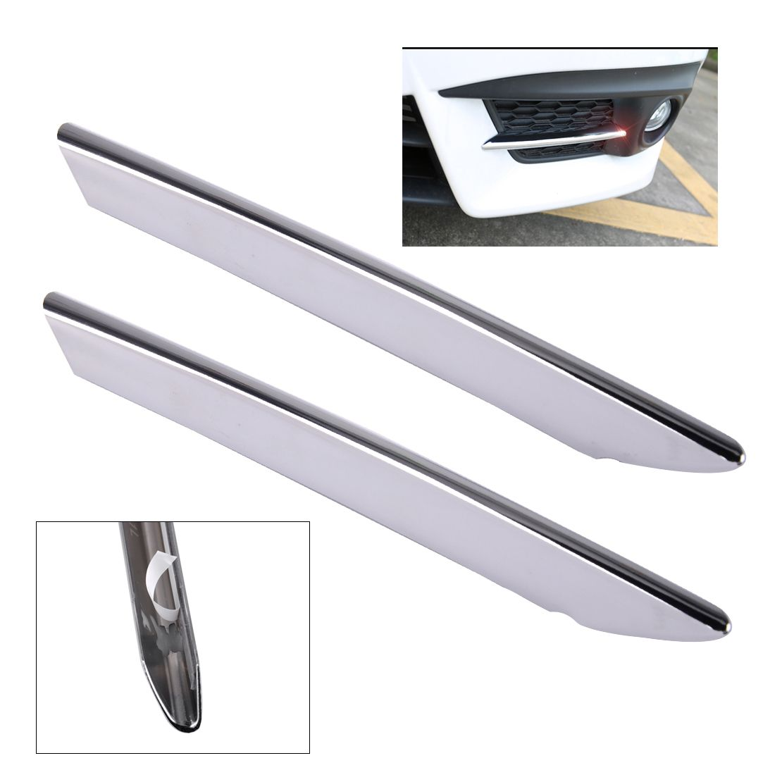 CITALL Car-styling 2pcs ABS Chrome Front Fog Light Lamp Cover Trim Fit for Honda Civic 2016 2017