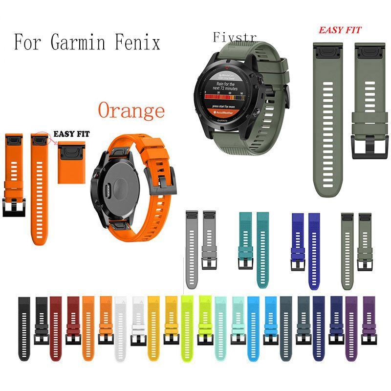 Fivstr 26 22 20mm Libération Rapide Bracelet En Silicone Dragonne pour Garmin Fenix 5X5 5 s Plus 3 3HR S60 D2 Mk1 EasyFit montre Smart watch