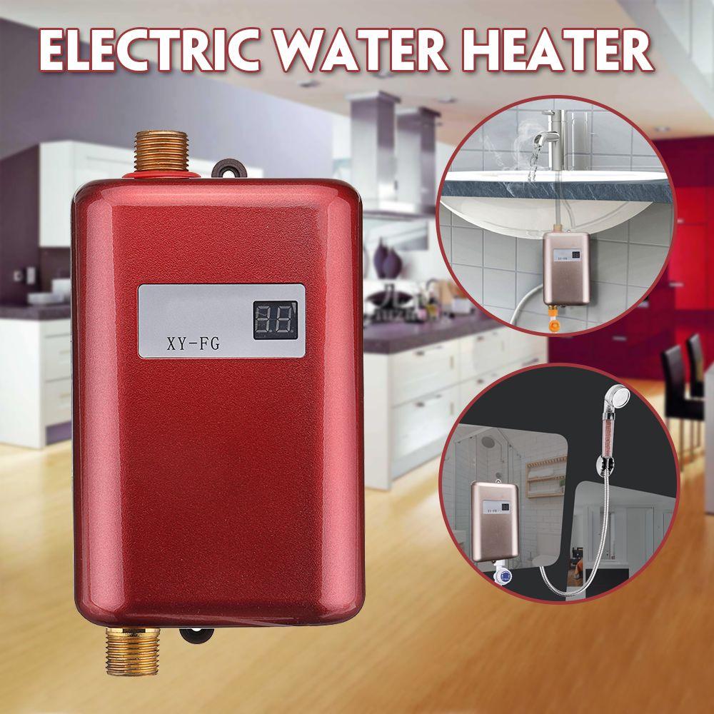 3800 W chauffe-eau électrique Instantané chauffe-eau instantané 110 V/220 V 3.8KW affichage de La Température de Chauffage Douche Universel