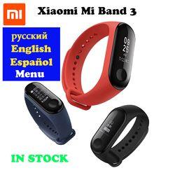EN STOCK 2018 New Original Xiaomi Mi Bande 3 Bracelet À Puce, 0.78 pouce OLED Instantanée Message Appelant ID Temps Forecate Mi Bande 3