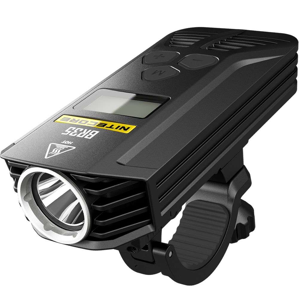 2018 New Nitecore BR35 1800 Lumens 2xCREE XM-L2 U2 Built-In 6800mAh Battery Pack Dual Distance Beam Rechargeable Bike Light