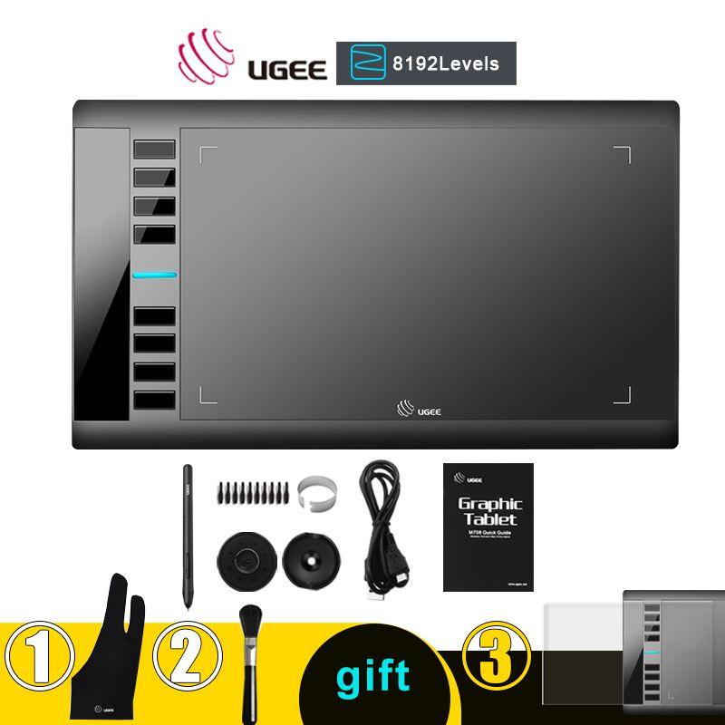 UGEE M708 tablette graphique 8192 niveaux tablette de dessin numérique tablette graphique Active pour dessin M708 V2 livraison directe