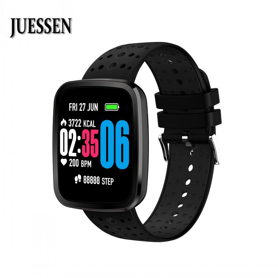 JUESSEN V6S Smart wristband Heart Rate monitor Fitness tracker Bracelet Blood Oxygen Pressure Monitor for iPhone IOS Android