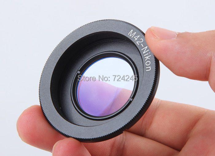 Bague D'adaptation d'objectif pour M42 Lens pour Nikon Mount Adapter avec Infinity Concentrer Verre pour Nikon DSLR Caméra D60 D80 D90 D700 D5000