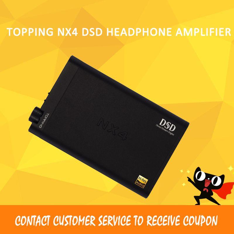 Topping NX4 DSD headphone amplifier dac audio es9038q2m usb decoder xmos amp volume control portable sport headphone amp
